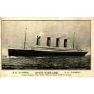 White Star Line Titanic Olympic Pre-Sinking