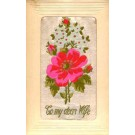 Flower Rose to Wife Woven Silk