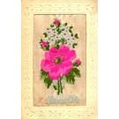 Woven Silk Flower Rose New Year