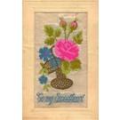 Woven Silk Flower Rose for Sweetheart