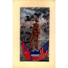 WWI Soldier Flags Horses in Sky Woven Silk