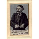 Woven Silk French Statesman Socialist Briand