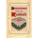 UK Glasgow Scottish Exhibition 1911 Woven Silk