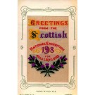 Scottish Exhibition 1908 Woven Silk