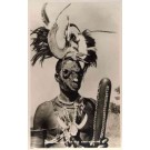 African Funeral Mask Wearing Samia Tribe Black RP