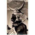 African Black in Funeral Mask Real Photo