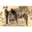 President Coolidge with His New Horse RP