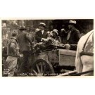 President Coolidge in Lumber Wagon Real Photo
