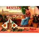 Advert Wine Sevilla Spanish Guitar Flower Roses