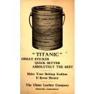Advert Titanic Leather Cement Postal