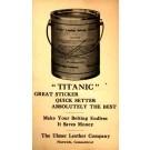 Advert Titanic Leather Cement Postal