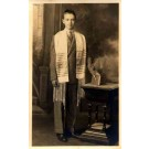 Young Jew Dressed for Prayer Real Photo