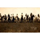 Cowboys on Horses Colorado Real Photo