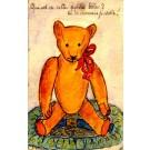 Sitting Teddy Bear Hand-Drawn
