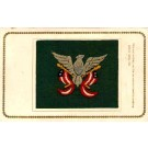Embroidered Silk Eagle Resting on Flags Patriotic