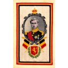 Woven Silk Flags King of Belgium WWI