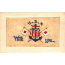 Embroidered Silk U.S. Navy Regimental WWI