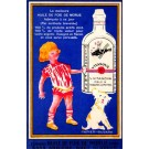 Advert Vitamin Drink Girl & Dog