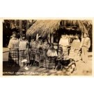 Seminole Indians Grass House Real Photo