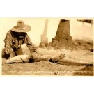 Seminole Putting Alligator to Sleep RP