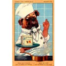 Advert Butter Bulldog as Chef Poster Style