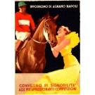 Jockey on Horse Art Deco Woman