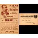 NYC Advert Mailing Boxes Jewish Merchant Pioneer