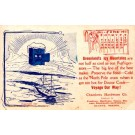 North Pole Sailing Ship Advert Refrigerator