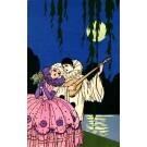 Pierrot with Mandolin for Lady Pochoir