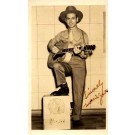 Country Western Guitar Player Real Photo