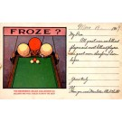 Frozen Heads as Balls Advert Billiards Tables