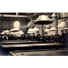 Billiards Players Sitting by Tables Real Photo