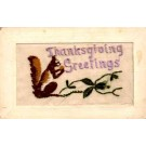Squirrel Thanksgiving Embroidered Silk