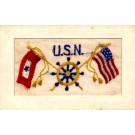 Navy U.S. Regimental Embroidered Silk