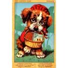 Puppy Terrier Holding Basket Advert Margarine