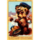Terrier Reading Letter Bulldogs Advert Margarine