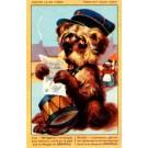 Terrier Reading Letter Bulldogs Advert Margarine