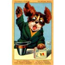 Advert Margarine Terrier Holding Box