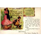 Advert Homes Furnishings Dancing Lovers Doll Cat