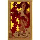 Italian Expo 1910 Girl Holding Rose Wreath
