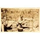 FL Everglades Old Seminole Indian Woman RP