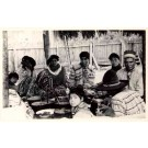 Seminole Indians Around Food Pots FL Real Photo