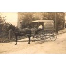 Groceries Horse-Drawn Wagon Real Photo