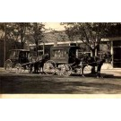 Dry Cleaners Horse-Drawn Wagons Real Photo
