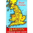 Advert Tour Road Cruises by Coaches Map