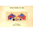 WWI Ocean Liner Ivernia Hands Flags Woven Silk