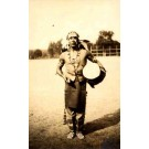 Indian Holding Drum Real Photo