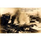 IL Quincy Fire at Lumber Co. 1908 Real Photo