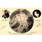 French Polar Explorers Sequier Darcis Globe