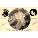 French Polar Explorers Sequier Darcis Globe
